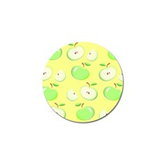 Apples Apple Pattern Vector Green Golf Ball Marker by Nexatart
