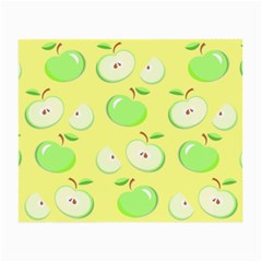 Apples Apple Pattern Vector Green Small Glasses Cloth (2 Side) by Nexatart