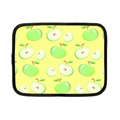 Apples Apple Pattern Vector Green Netbook Case (small)  by Nexatart