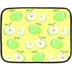 Apples Apple Pattern Vector Green Fleece Blanket (mini) by Nexatart