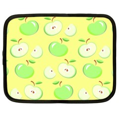 Apples Apple Pattern Vector Green Netbook Case (xxl)