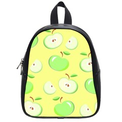 Apples Apple Pattern Vector Green School Bags (small)  by Nexatart