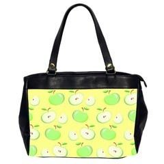 Apples Apple Pattern Vector Green Office Handbags (2 Sides)  by Nexatart