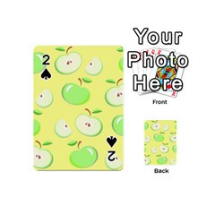 Apples Apple Pattern Vector Green Playing Cards 54 (mini)