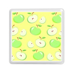 Apples Apple Pattern Vector Green Memory Card Reader (square)  by Nexatart