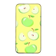 Apples Apple Pattern Vector Green Apple Iphone 4/4s Seamless Case (black) by Nexatart