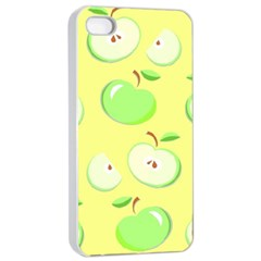 Apples Apple Pattern Vector Green Apple Iphone 4/4s Seamless Case (white) by Nexatart