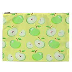 Apples Apple Pattern Vector Green Cosmetic Bag (xxl)  by Nexatart