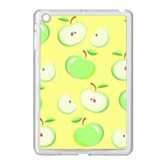 Apples Apple Pattern Vector Green Apple Ipad Mini Case (white) by Nexatart