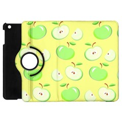 Apples Apple Pattern Vector Green Apple Ipad Mini Flip 360 Case by Nexatart