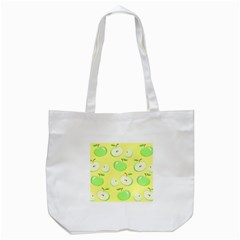 Apples Apple Pattern Vector Green Tote Bag (white)
