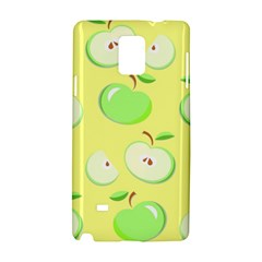 Apples Apple Pattern Vector Green Samsung Galaxy Note 4 Hardshell Case by Nexatart