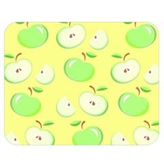Apples Apple Pattern Vector Green Double Sided Flano Blanket (medium)
