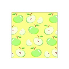 Apples Apple Pattern Vector Green Satin Bandana Scarf by Nexatart