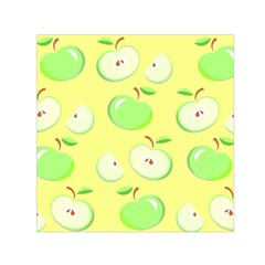 Apples Apple Pattern Vector Green Small Satin Scarf (square) by Nexatart