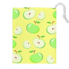 Apples Apple Pattern Vector Green Drawstring Pouches (xxl)