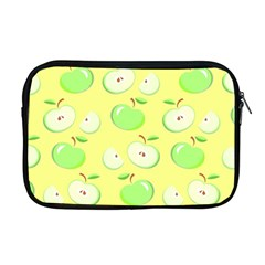 Apples Apple Pattern Vector Green Apple Macbook Pro 17  Zipper Case