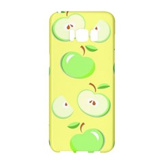Apples Apple Pattern Vector Green Samsung Galaxy S8 Hardshell Case  by Nexatart