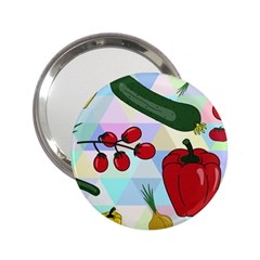 Vegetables Cucumber Tomato 2 25  Handbag Mirrors