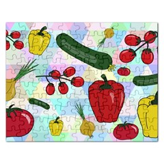 Vegetables Cucumber Tomato Rectangular Jigsaw Puzzl