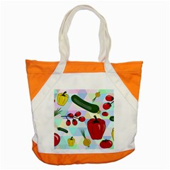 Vegetables Cucumber Tomato Accent Tote Bag by Nexatart