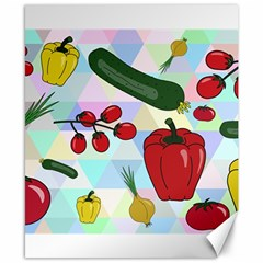 Vegetables Cucumber Tomato Canvas 8  X 10