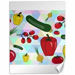 Vegetables Cucumber Tomato Canvas 18  X 24