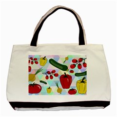 Vegetables Cucumber Tomato Basic Tote Bag (two Sides)