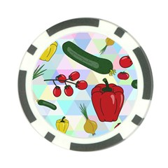 Vegetables Cucumber Tomato Poker Chip Card Guard