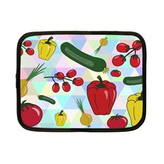 Vegetables Cucumber Tomato Netbook Case (small)  by Nexatart