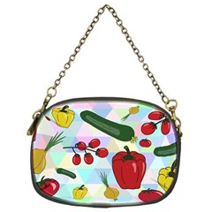 Vegetables Cucumber Tomato Chain Purses (one Side)  by Nexatart