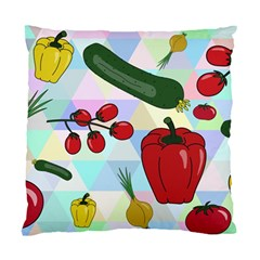 Vegetables Cucumber Tomato Standard Cushion Case (one Side) by Nexatart