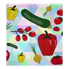 Vegetables Cucumber Tomato Shower Curtain 66  X 72  (large)  by Nexatart