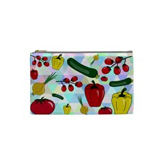 Vegetables Cucumber Tomato Cosmetic Bag (small)  by Nexatart