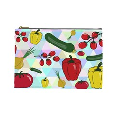 Vegetables Cucumber Tomato Cosmetic Bag (large)