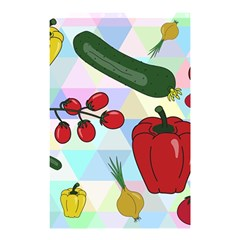 Vegetables Cucumber Tomato Shower Curtain 48  X 72  (small)  by Nexatart