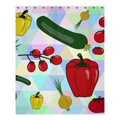 Vegetables Cucumber Tomato Shower Curtain 60  X 72  (medium)  by Nexatart