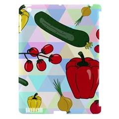 Vegetables Cucumber Tomato Apple Ipad 3/4 Hardshell Case (compatible With Smart Cover) by Nexatart