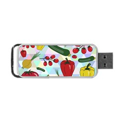 Vegetables Cucumber Tomato Portable Usb Flash (two Sides)