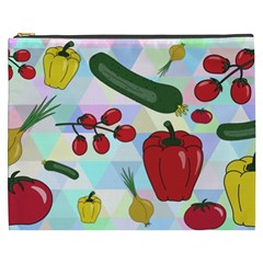 Vegetables Cucumber Tomato Cosmetic Bag (xxxl)  by Nexatart