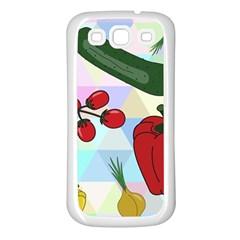 Vegetables Cucumber Tomato Samsung Galaxy S3 Back Case (white) by Nexatart