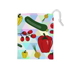 Vegetables Cucumber Tomato Drawstring Pouches (medium)