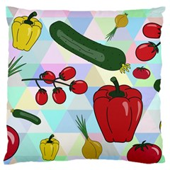 Vegetables Cucumber Tomato Standard Flano Cushion Case (one Side) by Nexatart