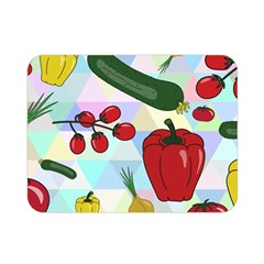 Vegetables Cucumber Tomato Double Sided Flano Blanket (mini)  by Nexatart