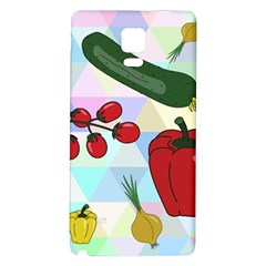 Vegetables Cucumber Tomato Galaxy Note 4 Back Case by Nexatart