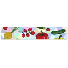 Vegetables Cucumber Tomato Flano Scarf (large) by Nexatart