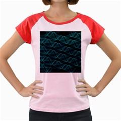 Pattern Vector Design Women s Cap Sleeve T Shirt
