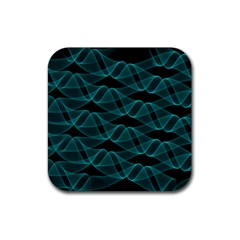 Pattern Vector Design Rubber Square Coaster (4 Pack)