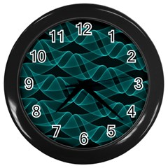 Pattern Vector Design Wall Clocks (black) by Nexatart