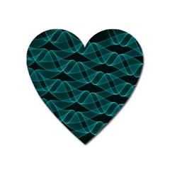 Pattern Vector Design Heart Magnet